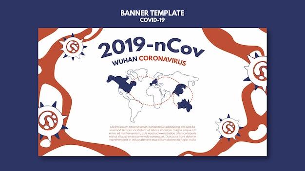 Sjabloon voor spandoek van wuhan coronavirus