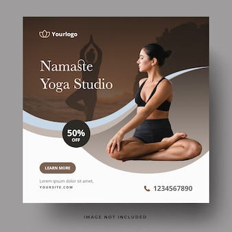 Sjabloon voor spandoek van yoga studio
