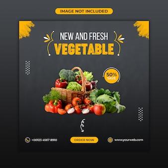 Sjabloon voor spandoek verse groenten eten