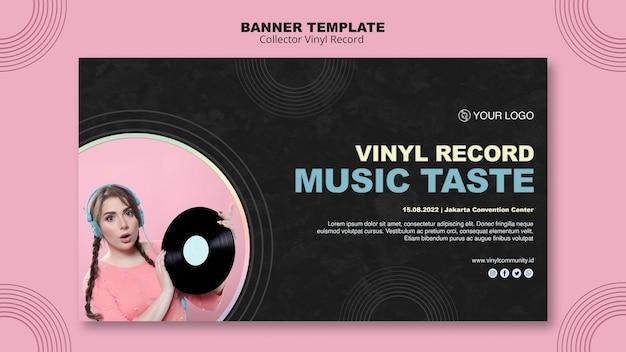 Sjabloon voor spandoek vinyl record