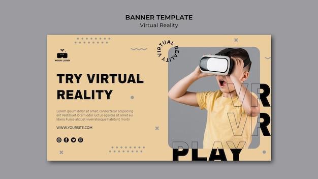 Sjabloon voor spandoek virtual reality