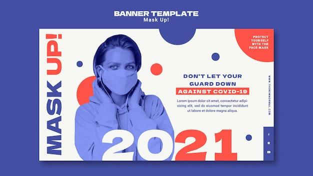 Sjabloon voor spandoek voor 2021 maskeren