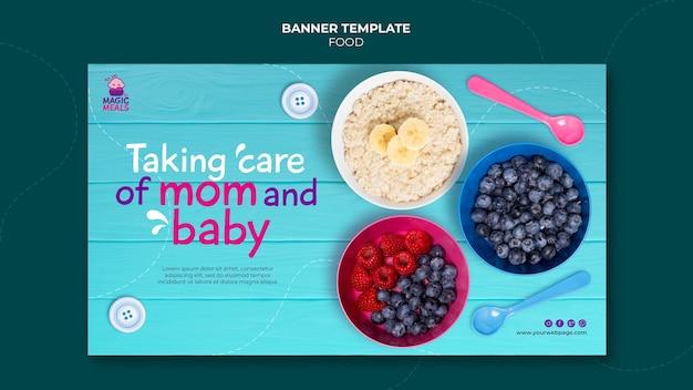 Sjabloon voor spandoek voor babyvoeding