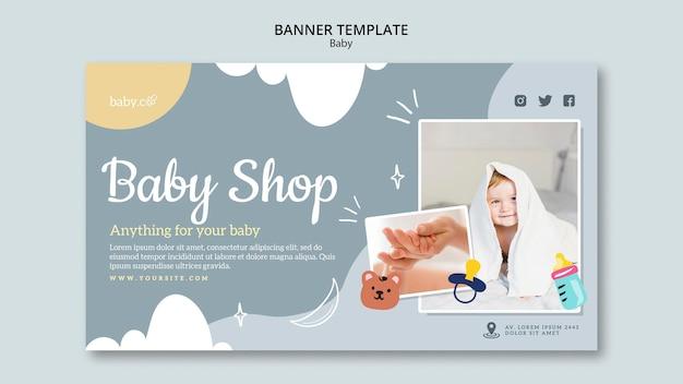 Sjabloon voor spandoek voor babywinkel