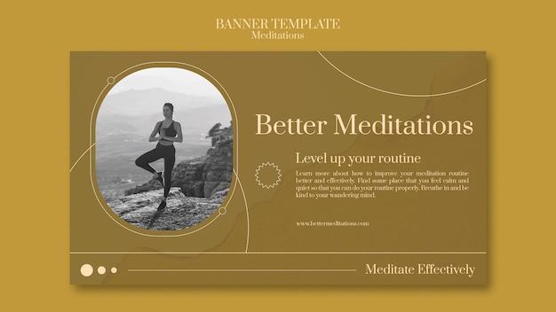 Sjabloon voor spandoek voor betere meditaties