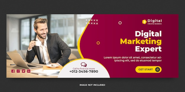 Sjabloon voor spandoek voor digitale marketing sociale media