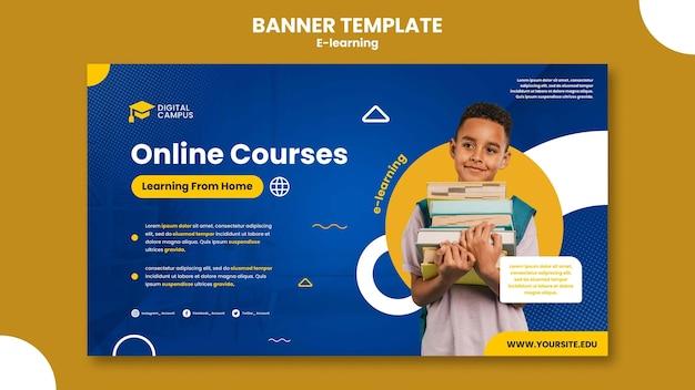 Sjabloon voor spandoek voor e-learning
