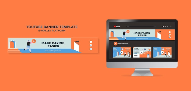 Sjabloon voor spandoek voor e-wallet-app