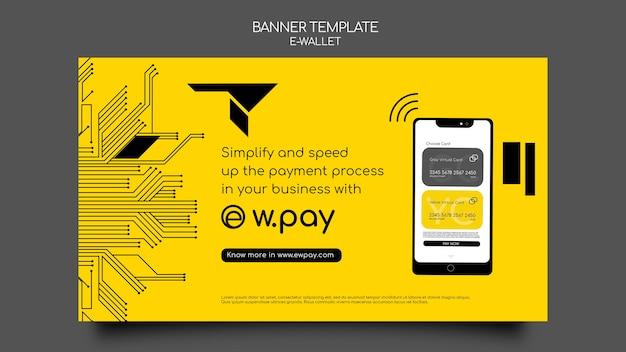 Sjabloon voor spandoek voor e-wallet