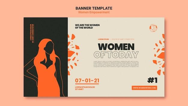 Sjabloon voor spandoek voor empowerment van vrouwen
