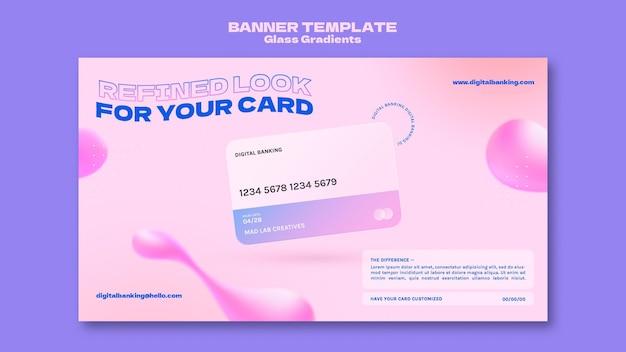 Sjabloon voor spandoek voor online bankieren