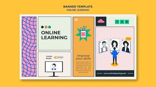 Sjabloon voor spandoek voor online leren