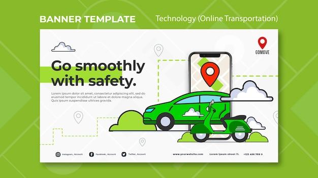 Sjabloon voor spandoek voor online transport