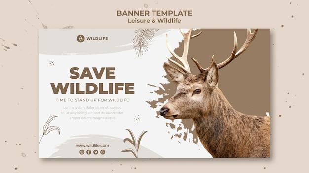 Sjabloon voor spandoek voor recreatie en dieren in het wild