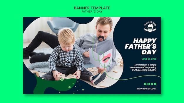 Sjabloon voor spandoek voor vaders dag evenement