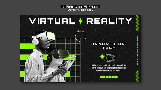 Sjabloon voor spandoek voor virtuele realiteit