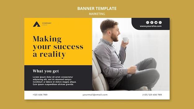 Sjabloon voor spandoek voor zakelijke marketing