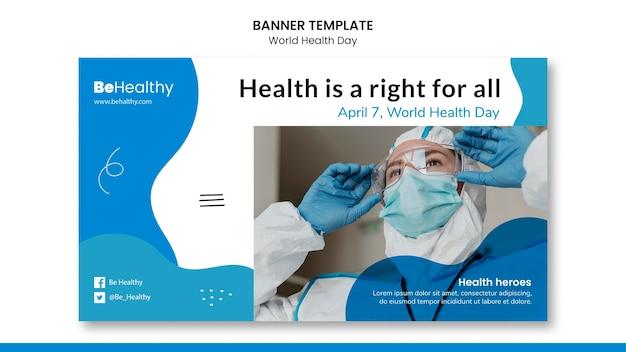 Sjabloon voor spandoek wereldgezondheidsdag