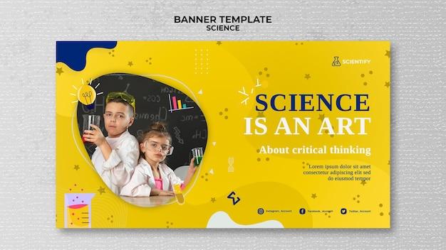 Sjabloon voor spandoek wetenschapsklas