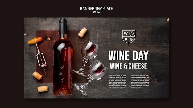 Sjabloon voor spandoek wijn