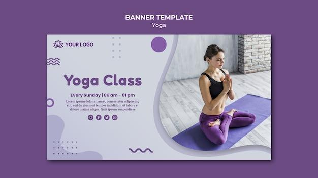 Sjabloon voor spandoek yoga concept