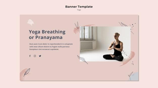 Sjabloon voor spandoek yoga houding