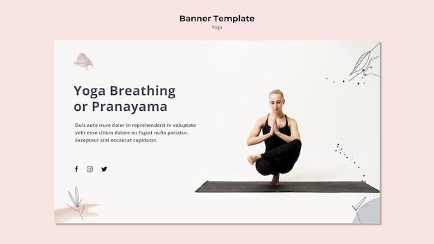 Sjabloon voor spandoek yoga