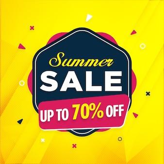 Sjabloon voor spandoek zomer verkoop met korting