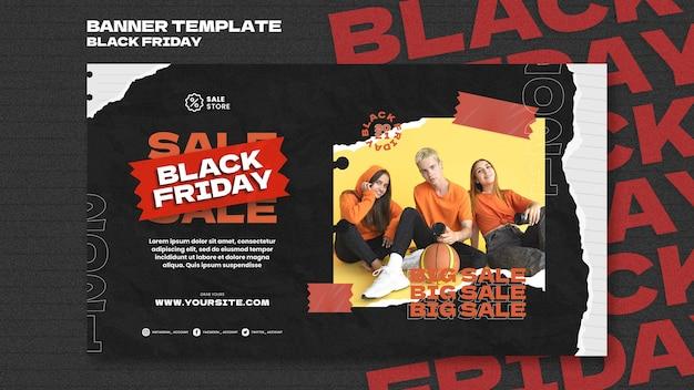 Sjabloon voor spandoek zwarte vrijdag verkoop