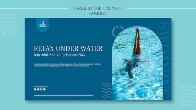 Sjabloon voor spandoek zwemmen met foto