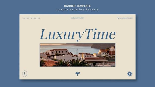 Sjabloon voor spandoekontwerp voor luxe vakantieverblijven