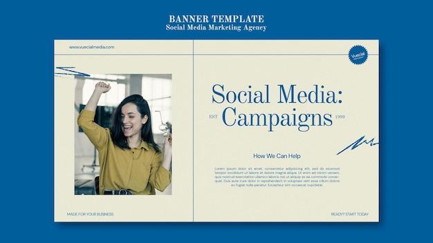 Sjabloon voor spandoekontwerp voor social media marketingbureau