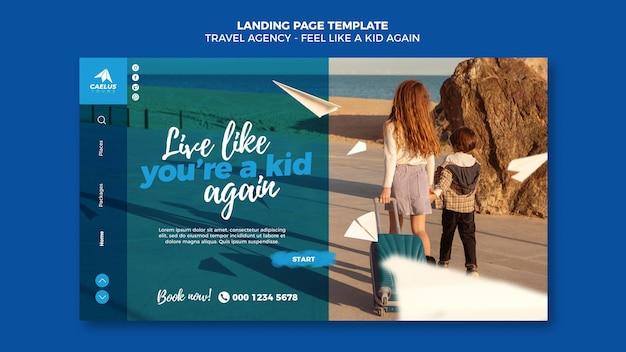 Sjabloon voor startpagina van reisbureau