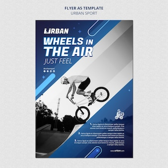 Sjabloon voor stedelijke sport-flyer
