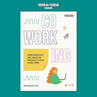 Sjabloon voor teamwerk-flyer