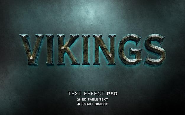 Sjabloon voor teksteffect vikingen