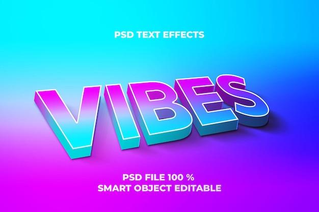 Sjabloon voor teksteffecten vibes