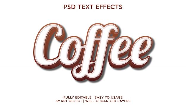 Sjabloon voor tekstlettertype met koffie-teksteffect