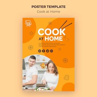 Sjabloon voor thuis koken flyer