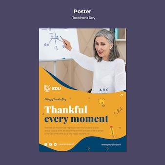 Sjabloon voor verticale poster voor lerarendag