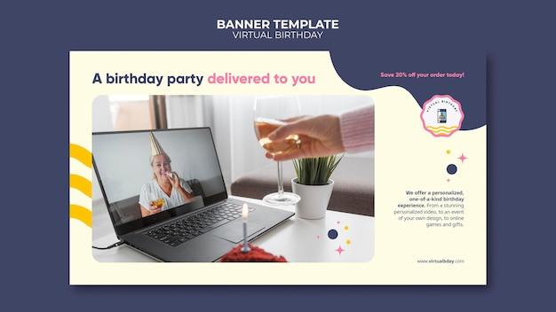 Sjabloon voor virtuele verjaardagsbanner