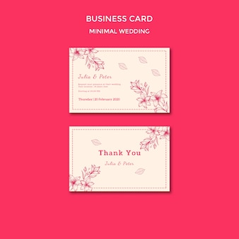 Sjabloon voor visitekaartjes bruiloft