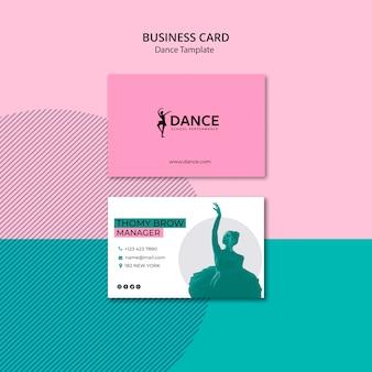 Sjabloon voor visitekaartjes dans