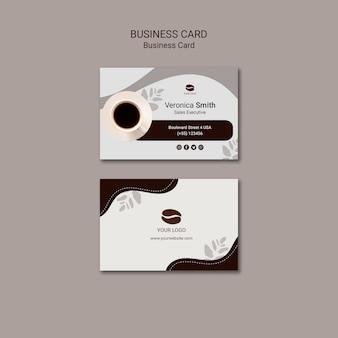 Sjabloon voor visitekaartjes koffie