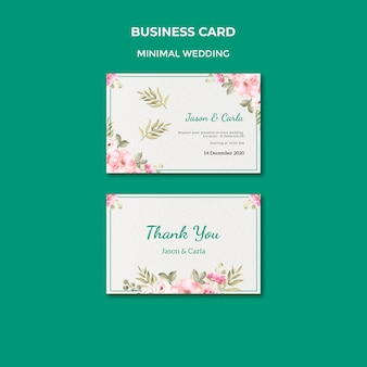 Sjabloon voor visitekaartjes met bruiloft