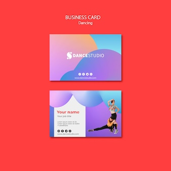 Sjabloon voor visitekaartjes met dans