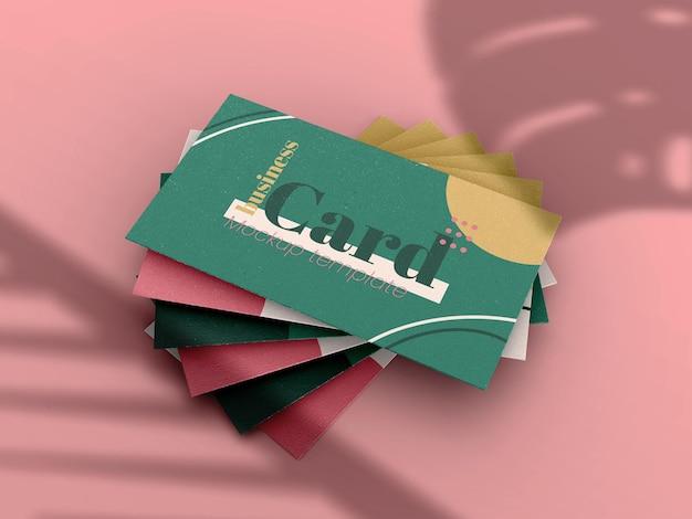 Sjabloon voor visitekaartjes mockup