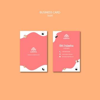 Sjabloon voor visitekaartjes sushi restaurant