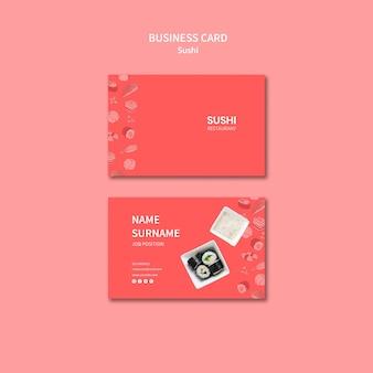 Sjabloon voor visitekaartjes sushi