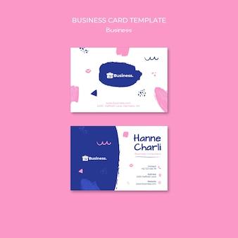 Sjabloon voor visitekaartjes van bedrijfsadviseur